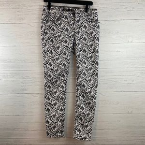 Iris Black and White Floral Skinny Jeans